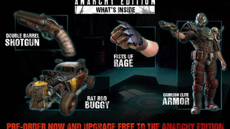 Grab a few upgrades with the Rage Anarchy Edition and a new gameplay trailer