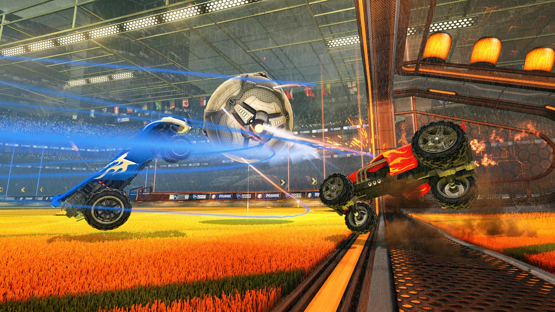 Cross-Network Play Arrives For Rocket League Between PC And Xbox One