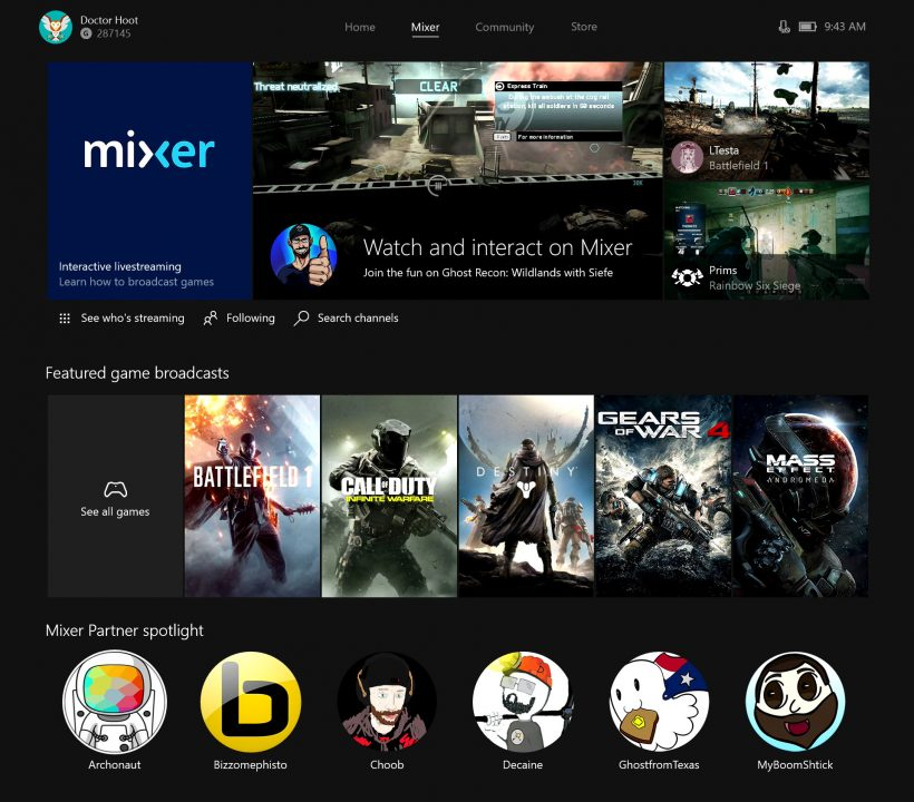 Microsoft Changes Beam Name to Mixer, Unleashes New Features