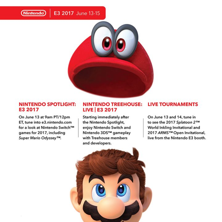 Nintendo Reveals Details for E3 2017, Headlined by Super Mario Odyssey 1