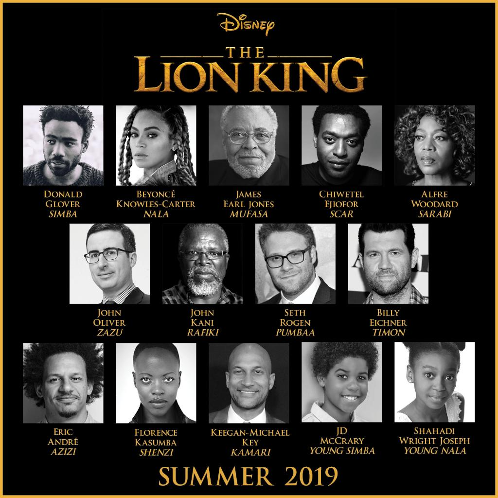 Disney Announces Cast for The Lion King