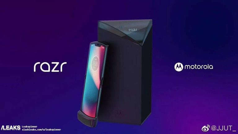 Leaked Renders Shows Motorola's Vertically-Folding Razr Phone