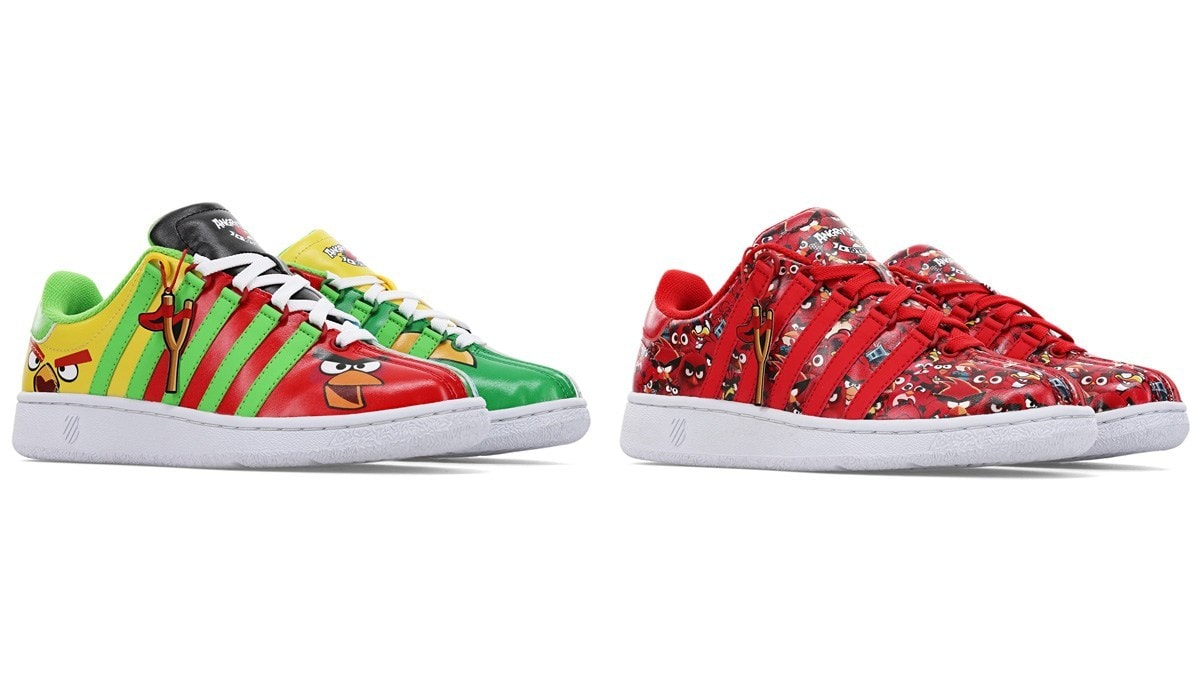 Angry Birds J Swiss sneakers - Angry Birds Sneakers Hurtling Into The Holidays