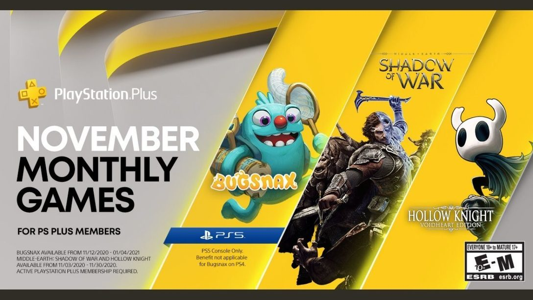 PlayStation Plus has three games to offer PS4 and PS5 members in November.