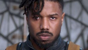 Michael B. Jordan looking at the camera